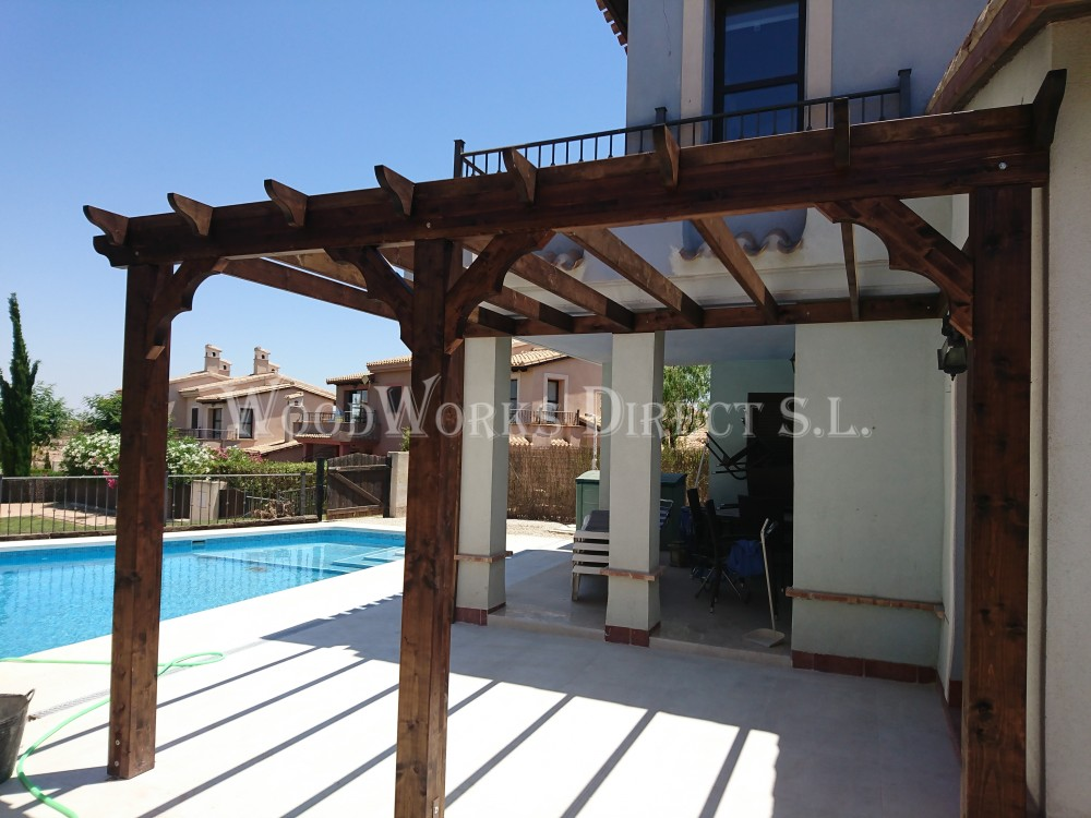 4m x 3m lean to pergola 861 woodworks direct. Black Bedroom Furniture Sets. Home Design Ideas