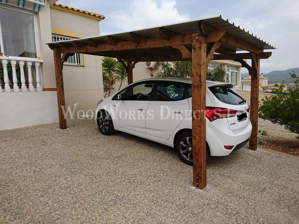 5m x 3m carport castalla alicante 886 woodworks direct