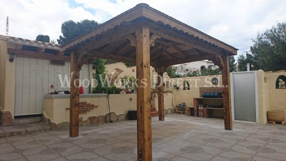 4m X 3m Gazebo Denia Alicante 932 Woodworks Direct