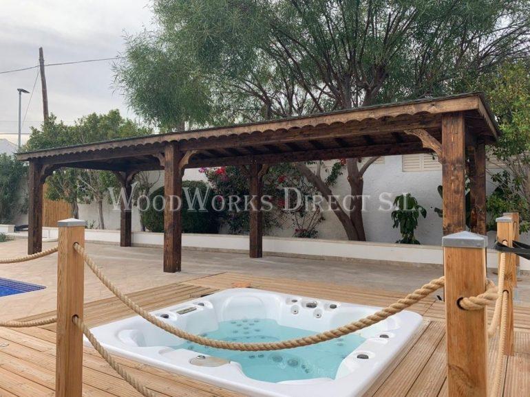 Timber Gazebo Calpe Alicante Spain