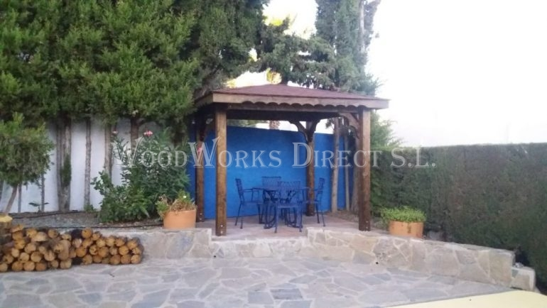 wood gazebo mojacar Almería spain