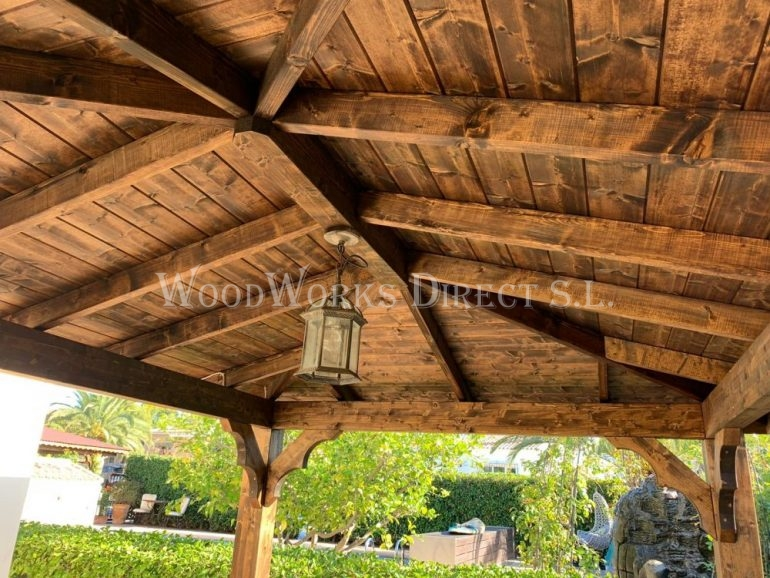 Wooden Gazebo Javea Denia Alicante