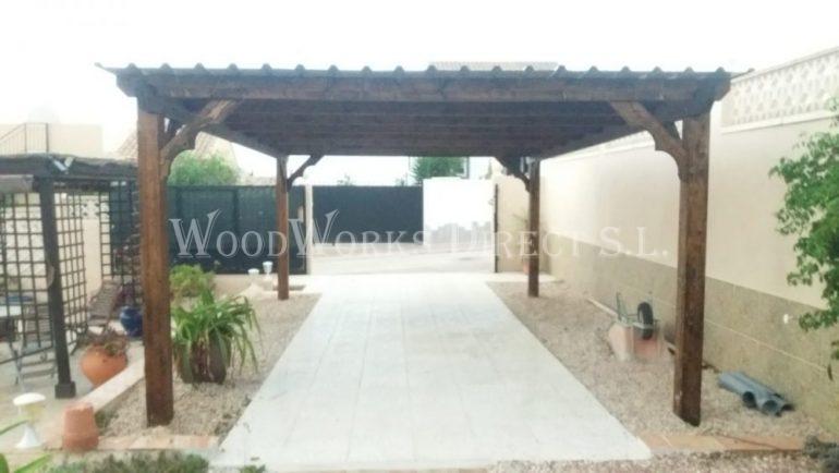 Timber carport Camposol Mazarrón