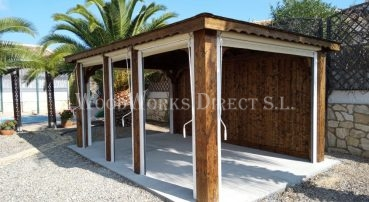 Gazebo with Pull down Awnings