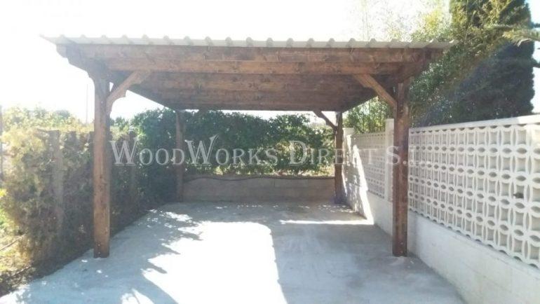 Timber Carport Salinas Alicante Spain