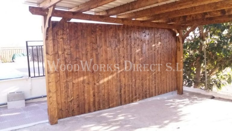 Timber Carport Sax Alicante Spain