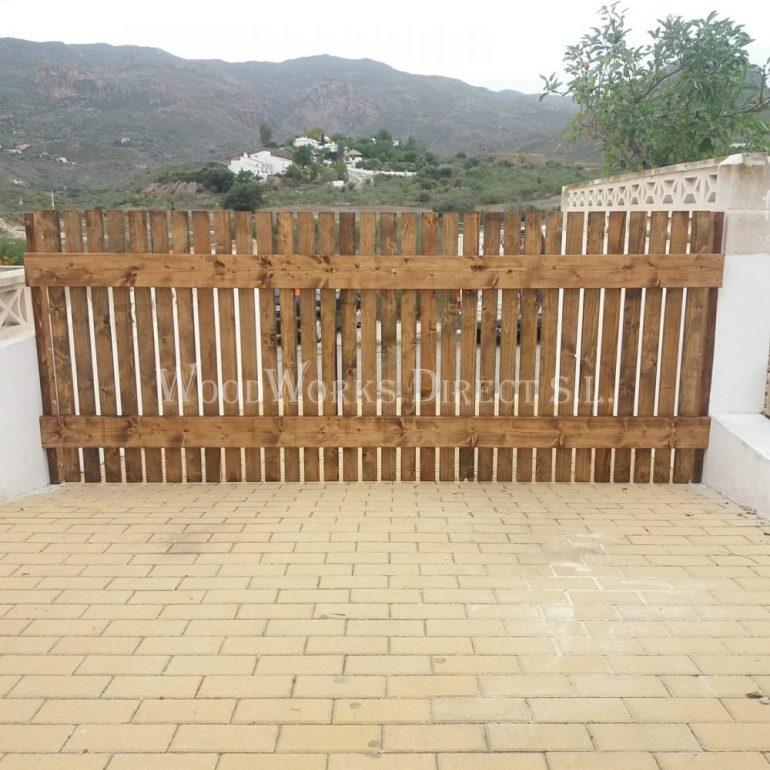 Wooden Pergola in Turre Almería