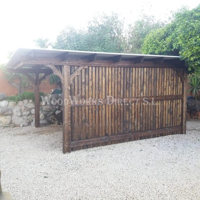 Timber Carport Sanet y Negrals Spain