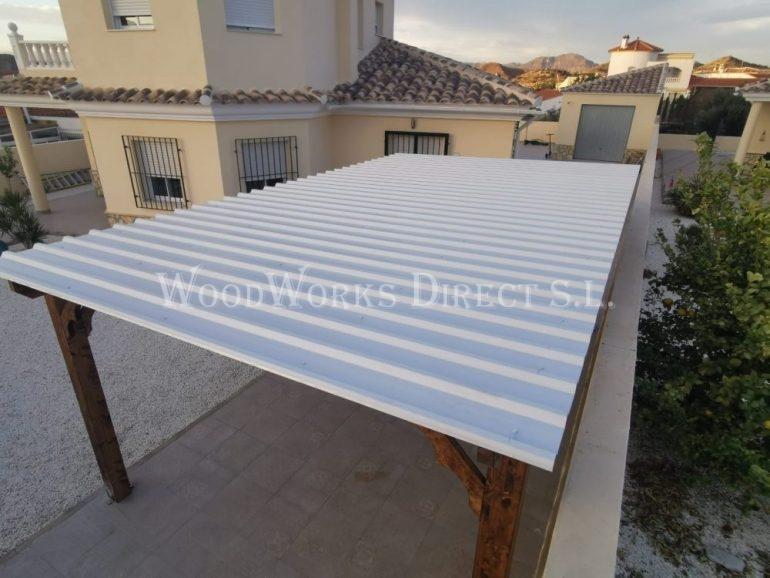 Single Timber Carport Arboleas Almería