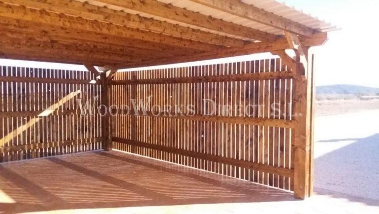 Large Double Timber Carport in Jumilla Murcia