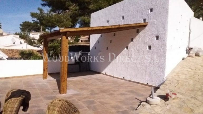 Wooden Lean to roof in Moraira Alicante