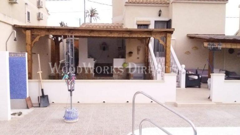 Flat Roofed Gazebo in fortuna Murcia Spain