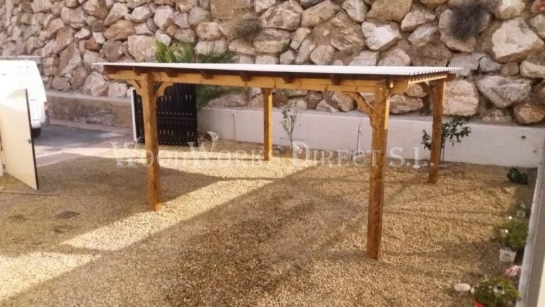 Wooden Carport Zurgena Almeria