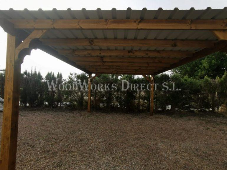 6 x 4m Timber Carport in Elche Alicante