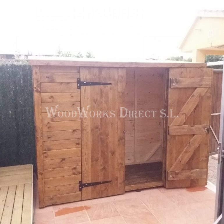 Small Double Door Wooden Shed Cartagena Murcia