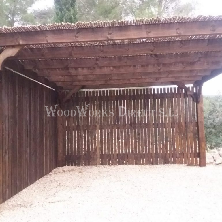 Wooden Pergola in Lliber Alicante