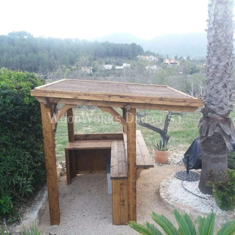 Timber Gazebo Bamboo Bar