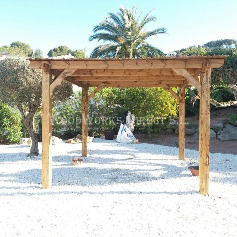 Bamboo timber murcia pergola