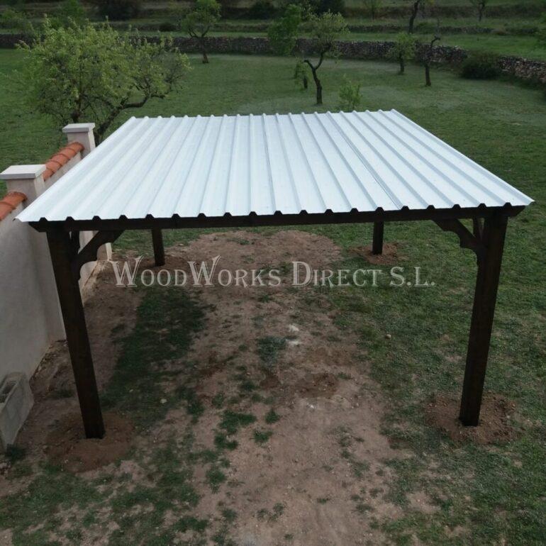 Sun reflecting roof sheets carport
