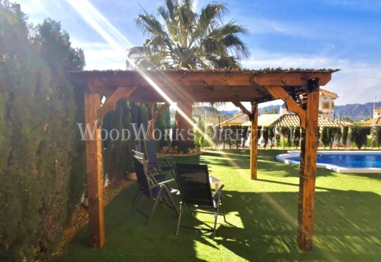Wooden Pergola Mazarron country club