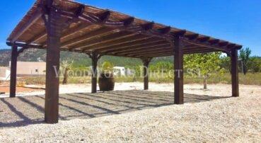 Wooden Pergola Salinas Alicante