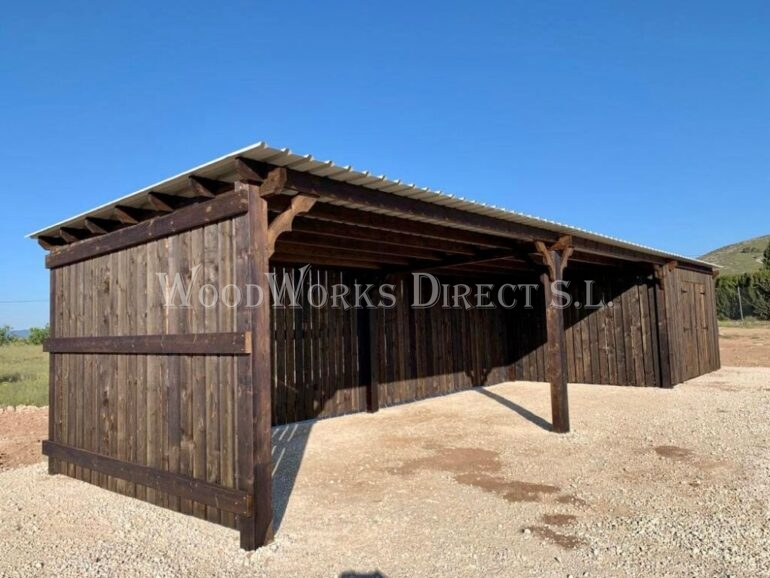 Timber Horse Shelter Alicante Murcia