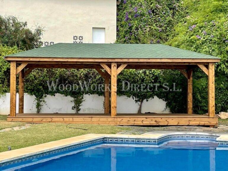 Wooden Retangular Gazebo Marbella