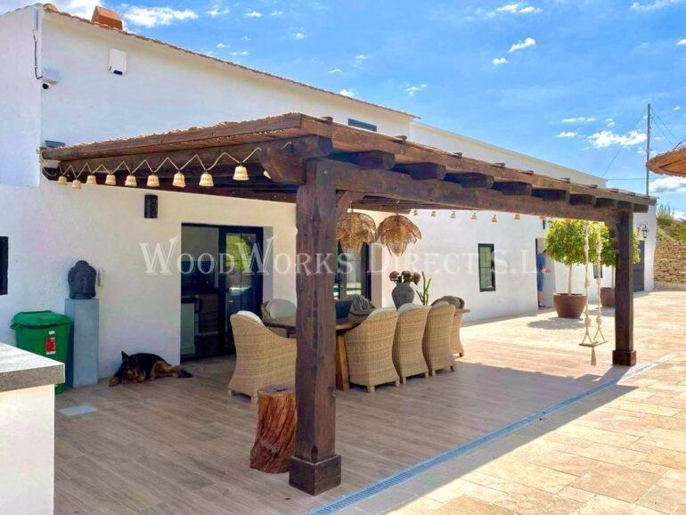 Flat roofed Lean-to Gazebo Murcia