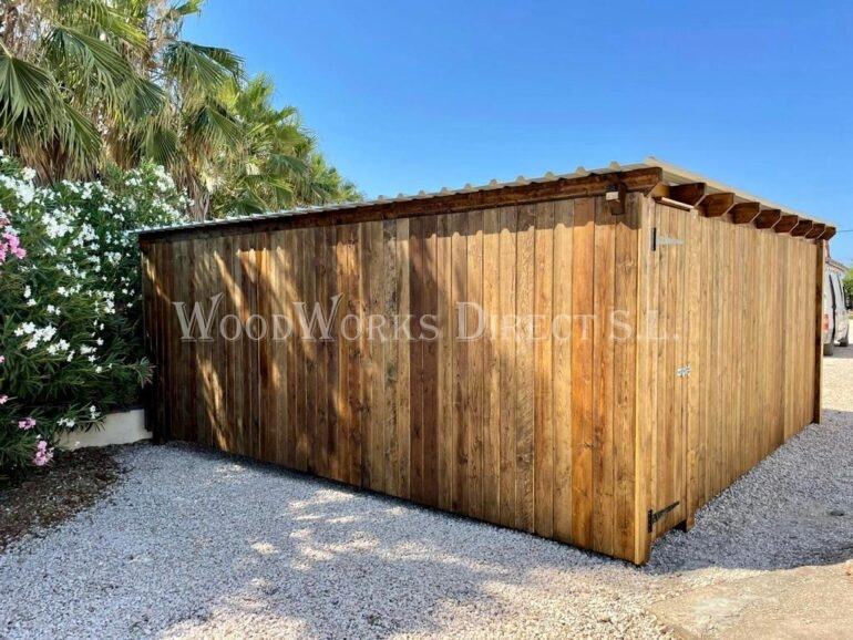 Wooden Carport Shed Alicante