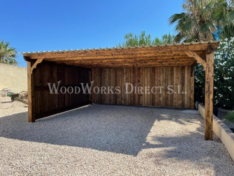 Timber Carport Shed Alicante