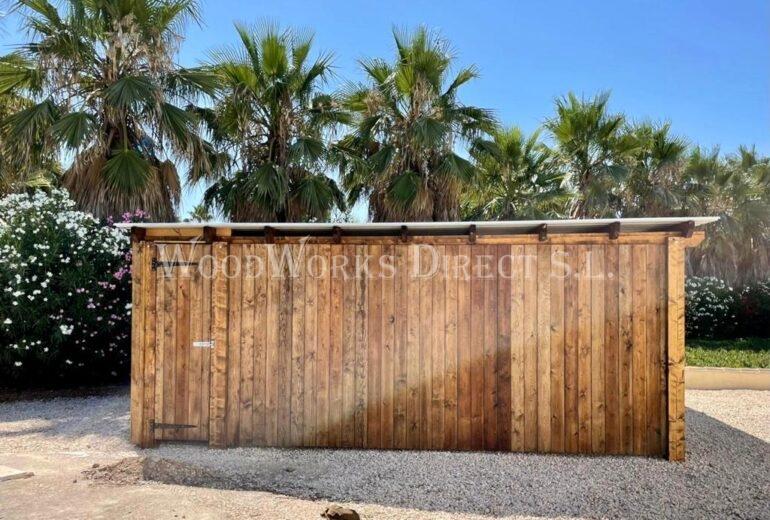 Timber double bat carport Alicante